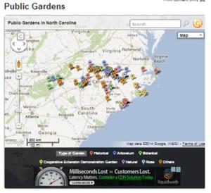 Public Gardens Map