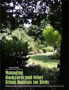 Cover photo for Managing Backyards and Other Urban Habitats for Birds