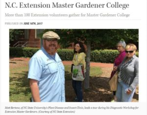 Cover photo for NC Extension Master Gardener College