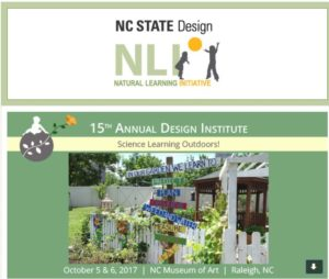 NC State Natural Learning Initiative Design Institute flyer