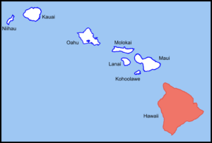 Image of a map of Hawaii