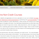 Horticultural courses screen shot image