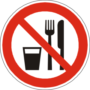 Do NOt Eat Sign