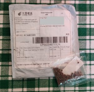 Shipping package and seeds