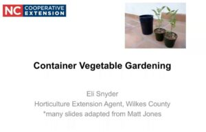 Coverslide for Container Gardening