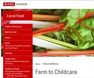 Farm to Child Care Portal