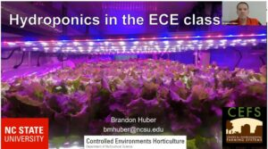 Cover slide for hydroponics video