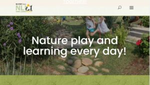 Screen Shot of the Natural Learning Initiative Home Page - Nature play and learning every day1