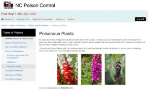 Home Page for Poison Control- Plants Page